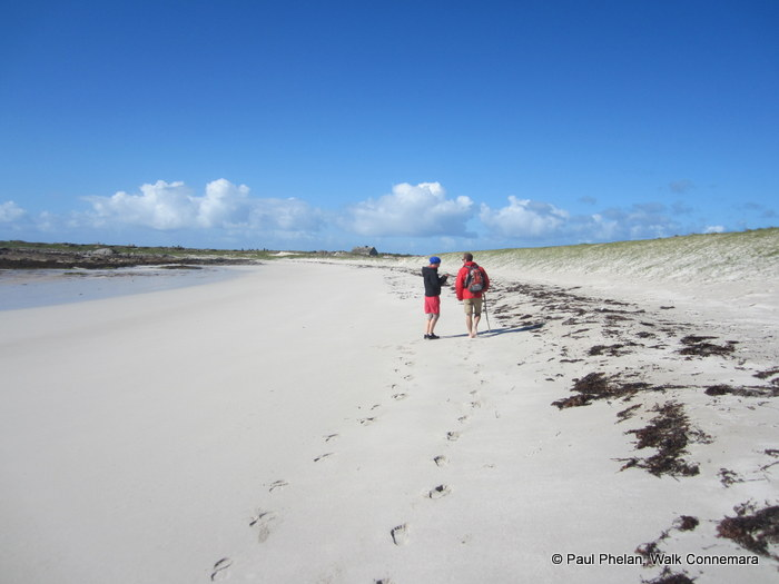 Walking with Walk Connemara on Finish Tidal Island which is a Discovery Point on the Wild Atlantic Walk