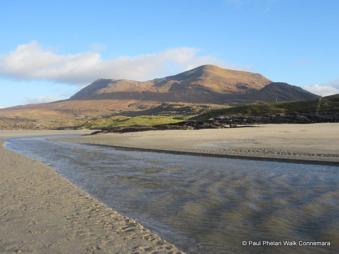 Mweelrea Mountain from the Silver Strand