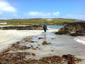 Walking on the beach, Inishbofin