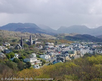 View overlooking Clifden from the D'Arcy Monument
