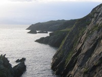 Cliffs at the north end of Inishbofin's Cloonamore Looped Walk