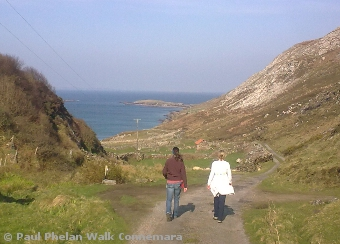The old coastal road at Derryinver