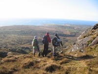 Walkers Descending Errisbeg, near Roundstone