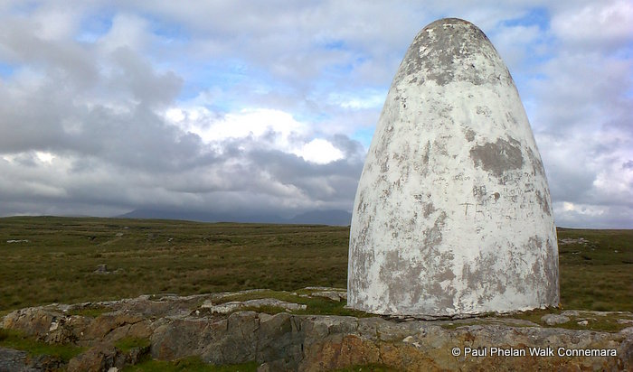 Marconi Memorial Stone, Walk Connemara, Derrygimla Derrigimla, which is a Discovery Point on the Wild Atlantic Way