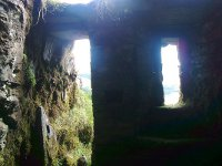 Looking out from inside O'Maille's Cave