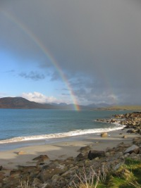 Rainbow at Rossadillisk beach