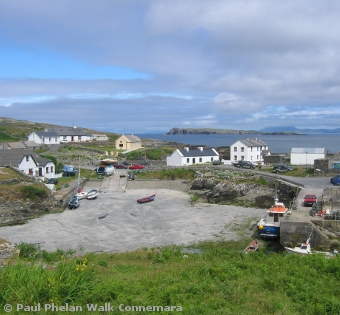 Inishturk harbour and village